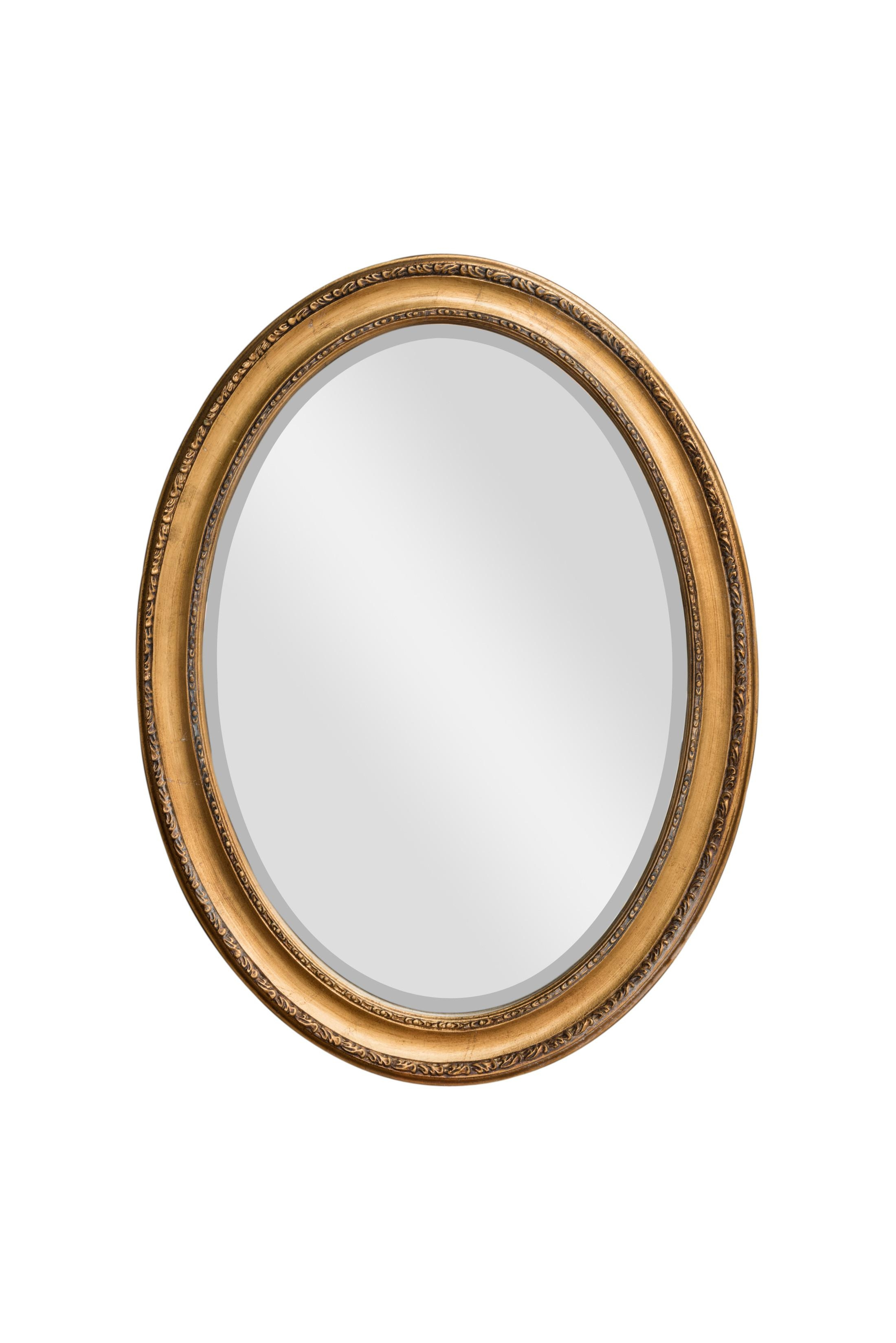 Oval Mirror Gold Leaf With Regard To Gold Oval Mirrors (Image 18 of 20)