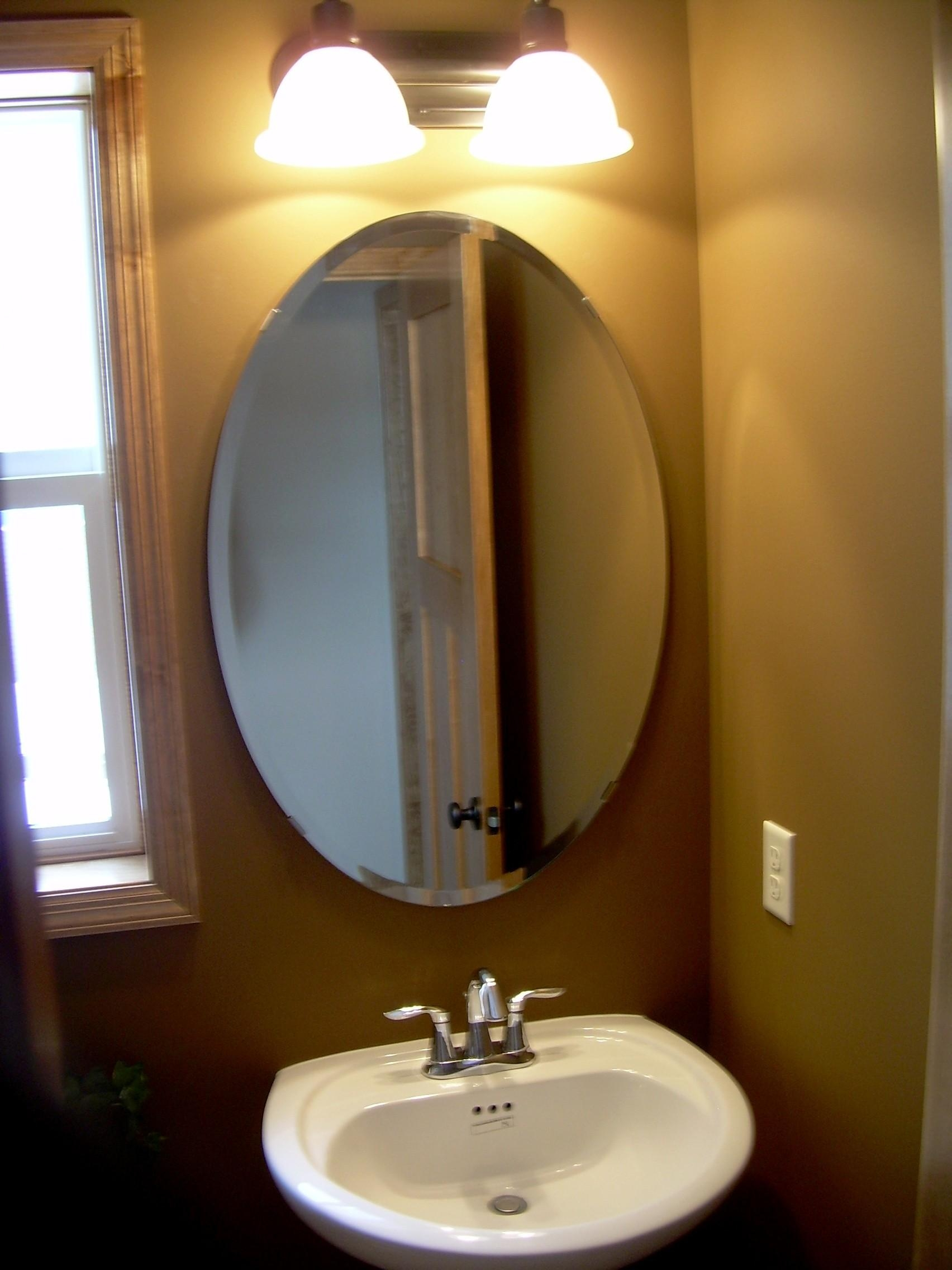 bathroom mirror replacement 20 photos oval bath mirrors mirror ideas 11077