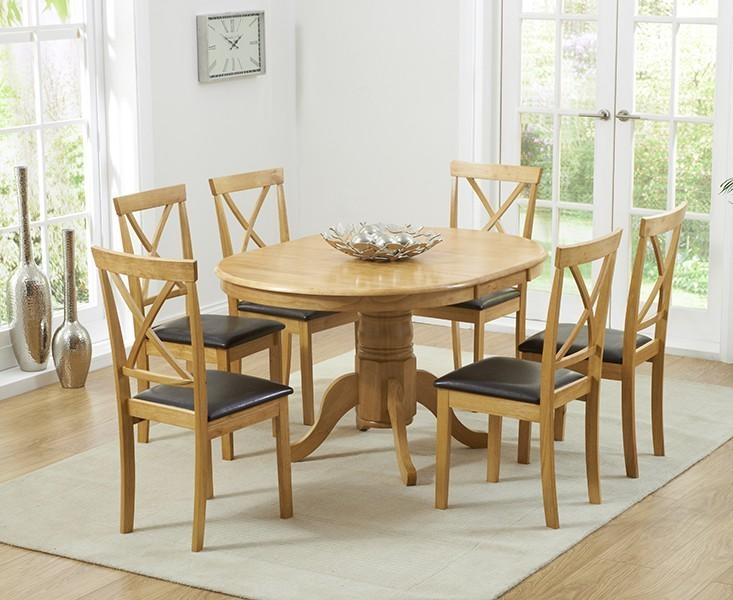 Oval & Round Dining Tables | Oak Furniture Superstore Pertaining To Most Current Round Oak Extendable Dining Tables And Chairs (Image 14 of 20)