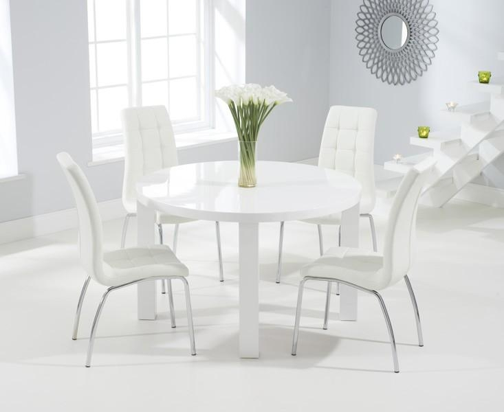 Oval & Round High Gloss Dining Sets | Oak Furniture Superstore With Regard To White Gloss Dining Tables 120Cm (Image 16 of 20)