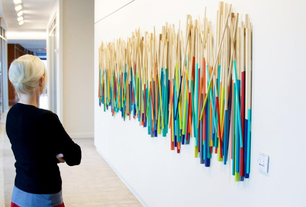 Over The Harbor' | Wood Stick Sculpture | Rosemary Pierce Modern Art For Corporate Wall Art (View 8 of 20)