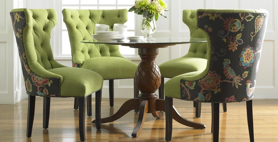 Padded Chairs Dining Room – Insurserviceonline Within Best And Newest Fabric Dining Room Chairs (Image 17 of 20)