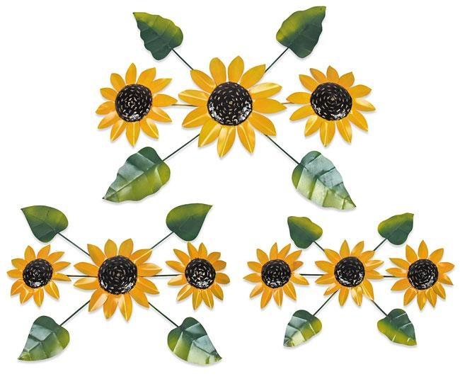 Painted Metal Sunflower Wall Art Sculptures Intended For Metal Sunflower Wall Art (View 12 of 20)