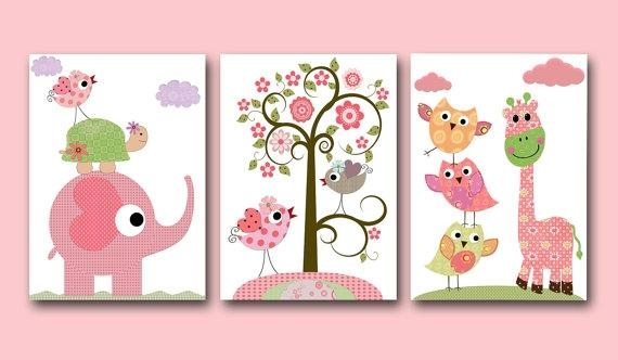 Paintings For Room Decor With Regard To Wall Art For Little Girl Room (Image 19 of 20)