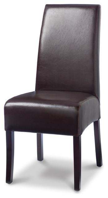 Palecek Hudson Leather Dining Chair – Transitional – Dining Chairs Throughout Current Dark Brown Leather Dining Chairs (Image 12 of 20)
