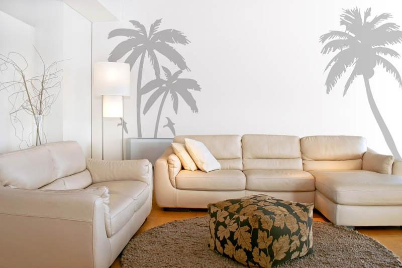 Palm Tree And Birds Set Vinyl Wall Art Wall Decal Wall Tattoo Intended For Tattoos Wall Art (Image 14 of 20)