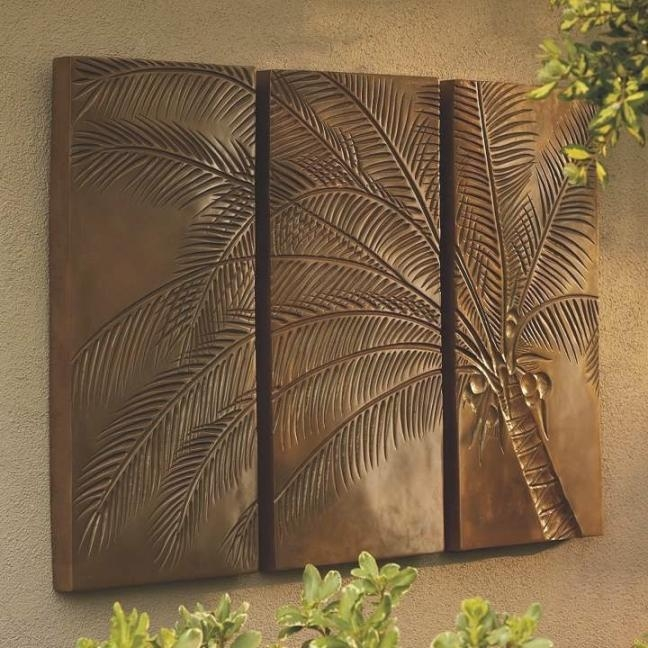 Palm Tree Triptych | Ideas For My Place | Pinterest | Inspiration With Regard To Palm Tree Metal Wall Art (View 8 of 20)