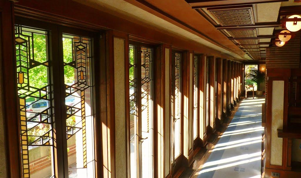 Panoramio – Photo Of Wall Of Art Glass, Robie House, Frank Lloyd With Regard To Frank Lloyd Wright Wall Art (Image 18 of 20)