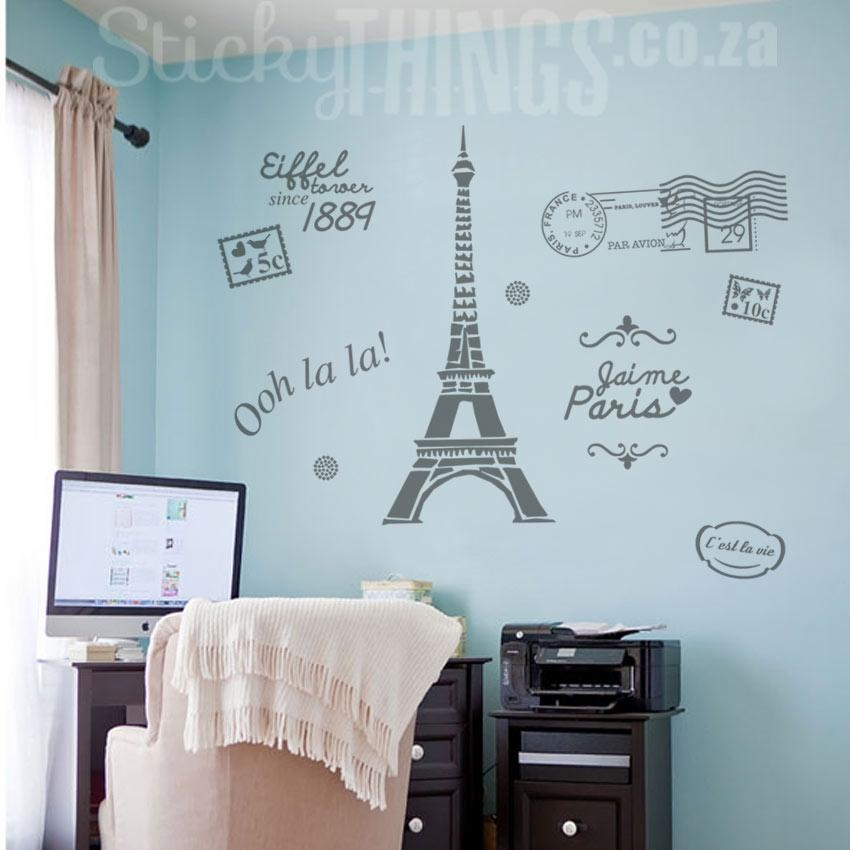 Paris Wall Art – Paris Decal Wall Sticker – Stickythings.co (Image 10 of 20)