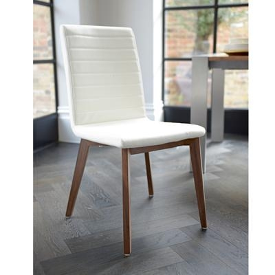 Parquet Dining Chair Faux Leather Cream – Dwell With Current Cream Faux Leather Dining Chairs (View 12 of 20)