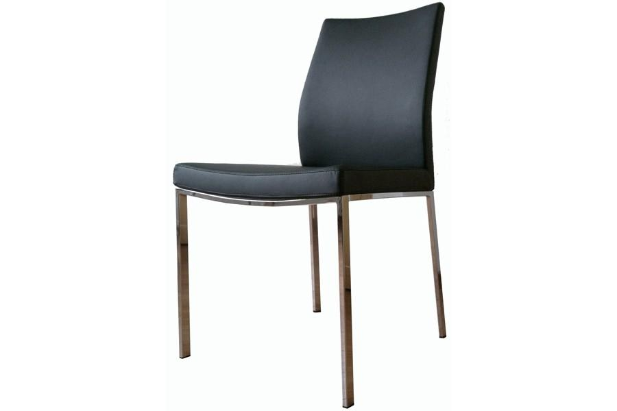 Pasha Chrome Dining Chair | Viesso With Real Leather Dining Chairs (Image 16 of 20)