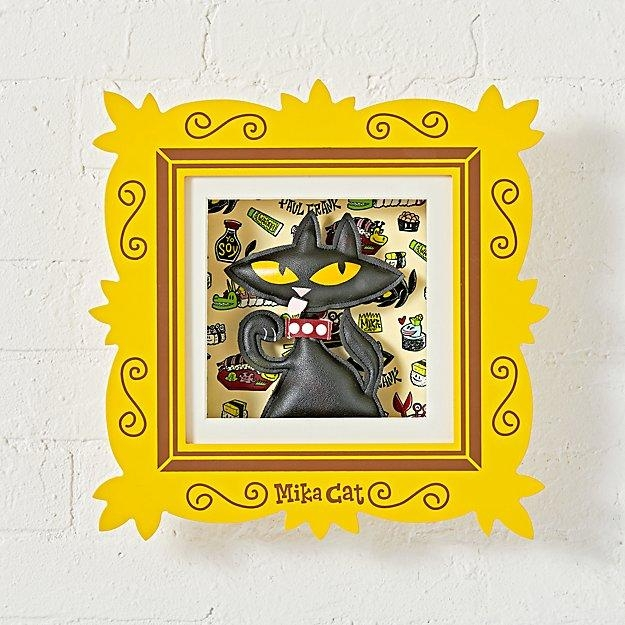 Paul Frank Framed Mika Cat Wall Art | The Land Of Nod Within Land Of Nod Wall Art (Image 11 of 20)