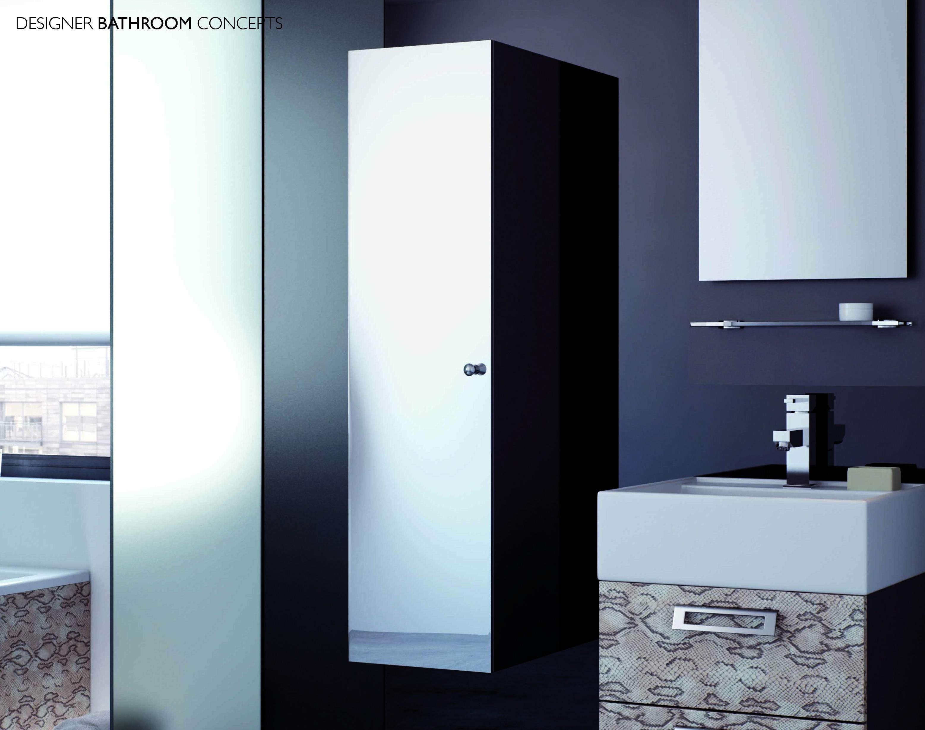 Peaceful Design Ideas Tall Bathroom Cabinet With Mirror Tarra Regarding Tall Bathroom Mirrors (View 9 of 20)