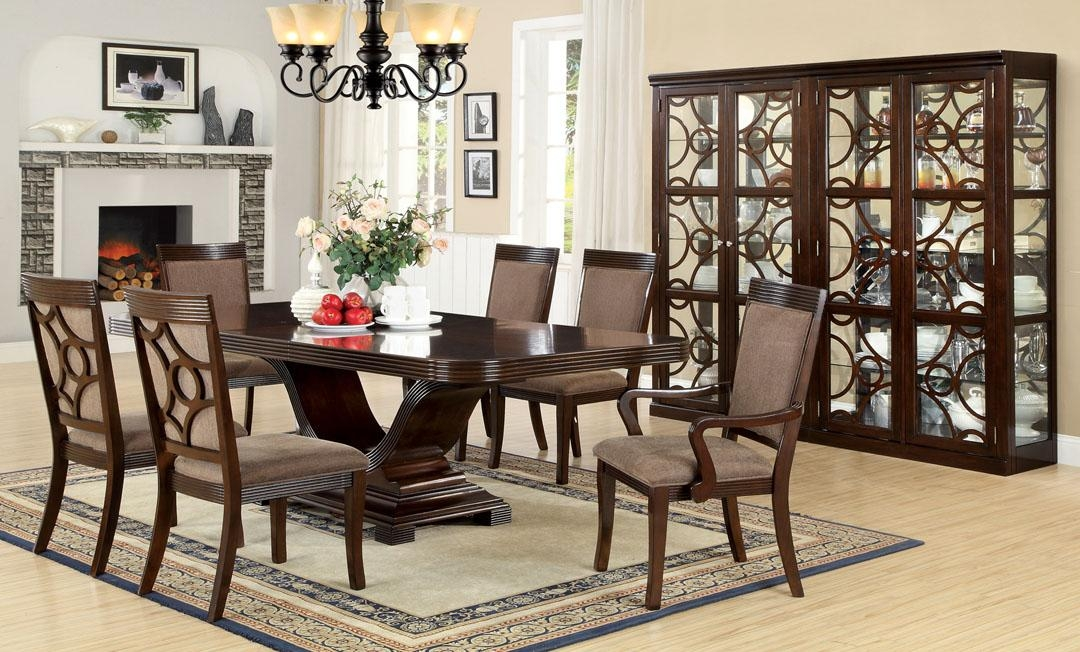 Pedestal Dining Table Set Amazing Dining Table Sets For Small Within Most Up To Date Pedestal Dining Tables And Chairs (Image 16 of 20)