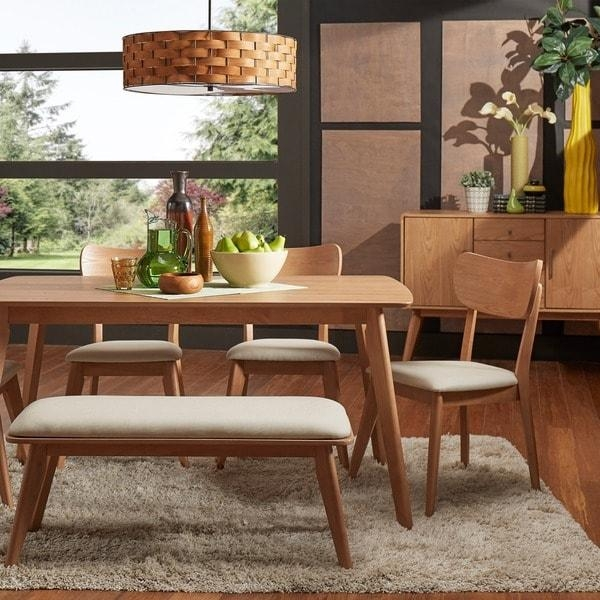Penelope Danish Modern Natural Oak Dining Set Inspire Q Modern With Oak Dining Sets (Image 14 of 20)