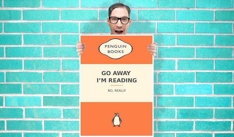 Penguin Books Go Away Im Reading Art Pint – Wall Art Print Poster Throughout Penguin Books Wall Art (Image 17 of 20)