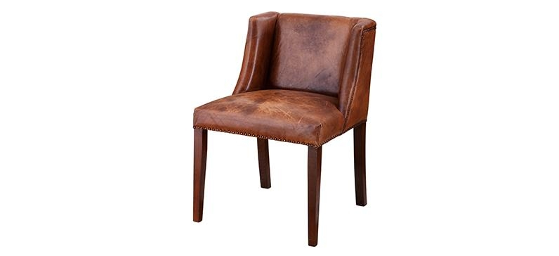 Perfect Brown Leather Dining Room Chairs With Laredo Brown Leather With Regard To Brown Leather Dining Chairs (View 15 of 20)