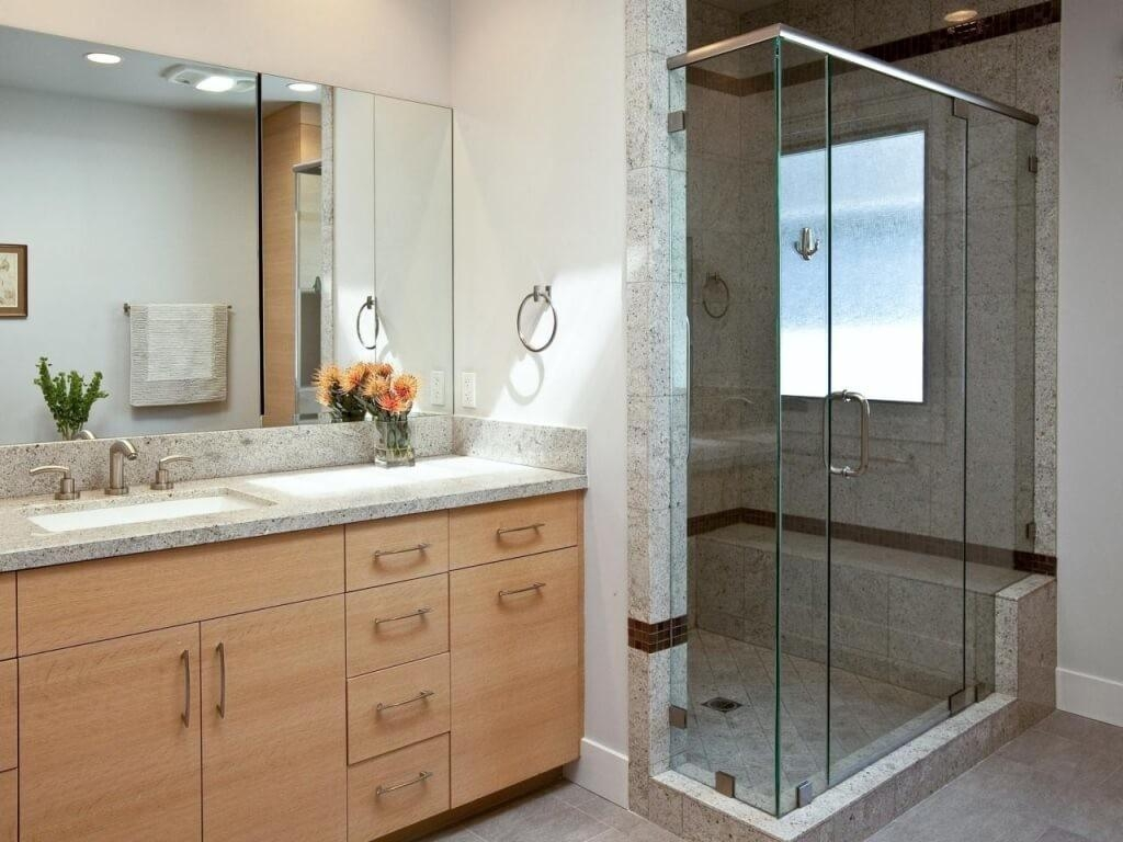 Perfect Decoration Large Frameless Wall Mirrors Shocking Ideas In Bevelled Bathroom Mirrors (Image 18 of 20)
