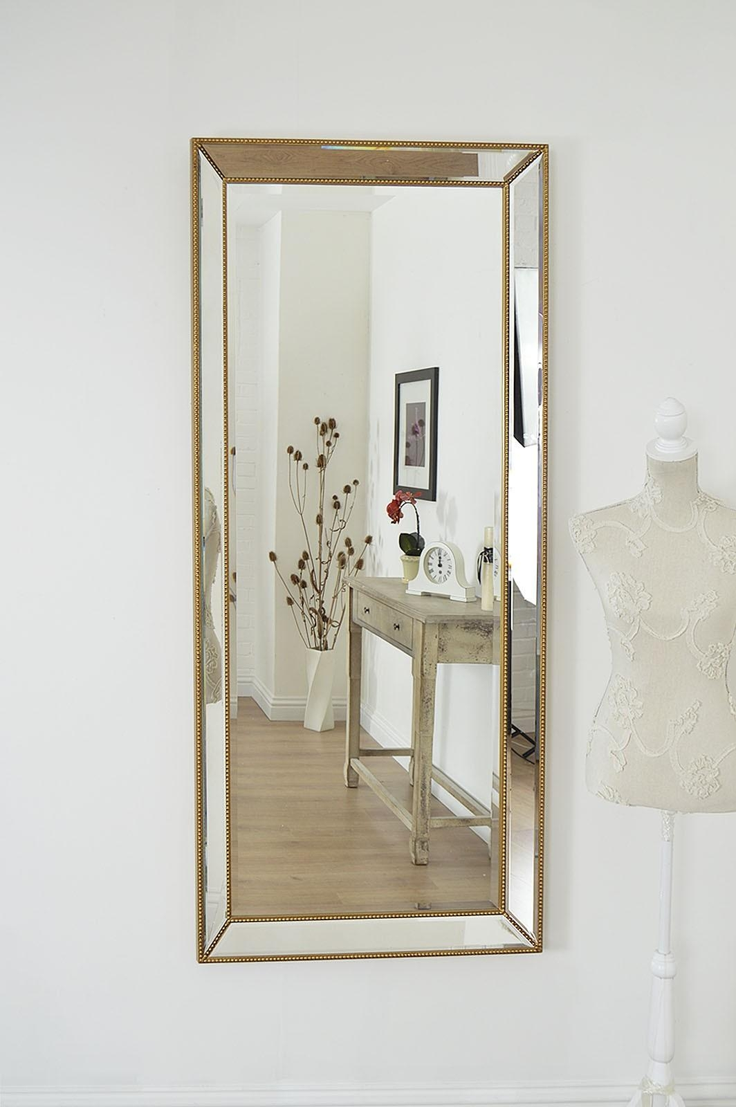 Perfect Design Big Wall Mirrors Innovation Large Gold Edge Within Big Wall Mirrors (Image 18 of 20)