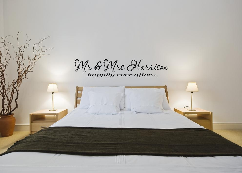 Personalised Mr & Mrs Happily Ever After – Vinyl Wall Art Sticker In Mr And Mrs Wall Art (Image 15 of 20)