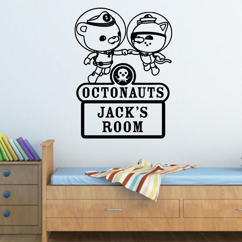 Personalised Octonauts Vinyl Wall Sticker | Jaklot Within Octonauts Wall Art (Image 17 of 20)