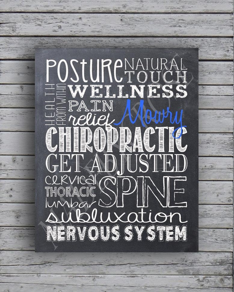 Personalized Chalkboard Chiropractic Subway Art Print In Chiropractic Wall Art (Image 19 of 20)