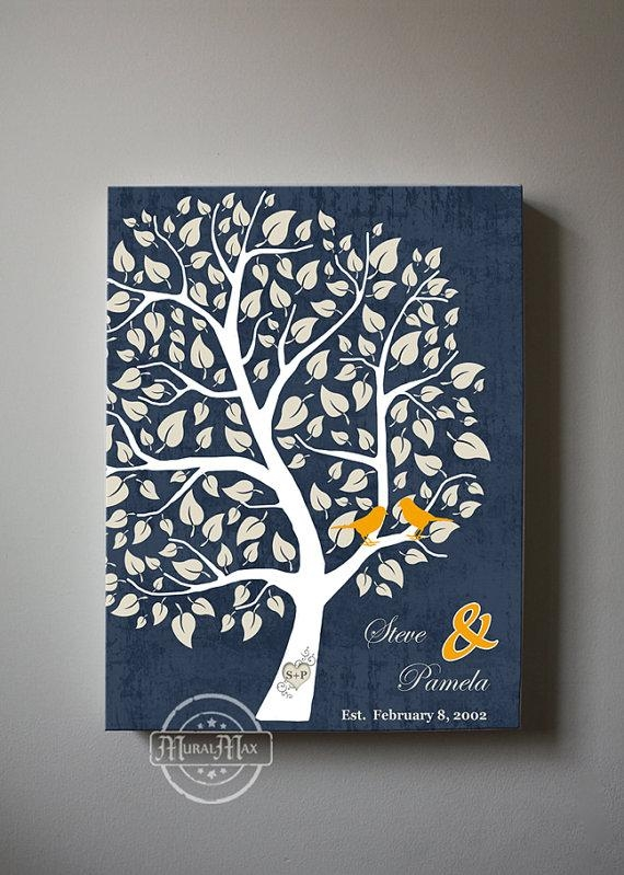 Personalized Family Tree Canvas Wall Art Home Decor With Personalized Family Wall Art (Image 13 of 20)
