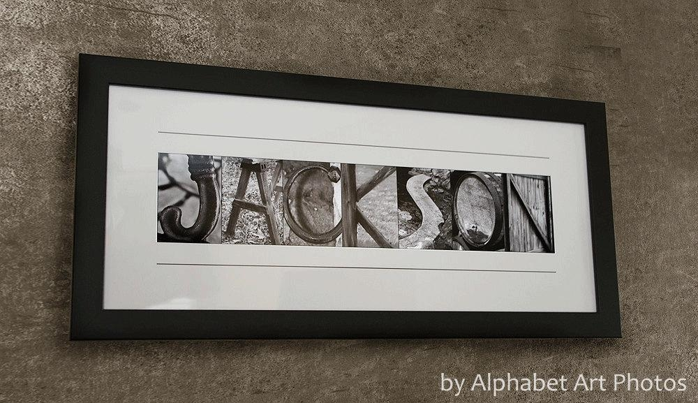 Featured Image of Custom Last Name Wall Art