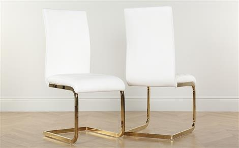 Perth White Leather Dining Chair Only £ (Image 16 of 20)