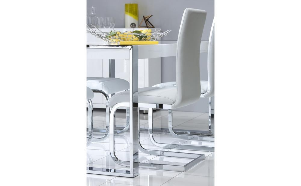 Perth White Leather Dining Chair Only £ (Image 17 of 20)