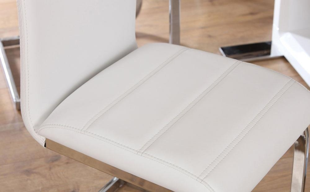 Perth White Leather Dining Chair Only £ (Image 18 of 20)