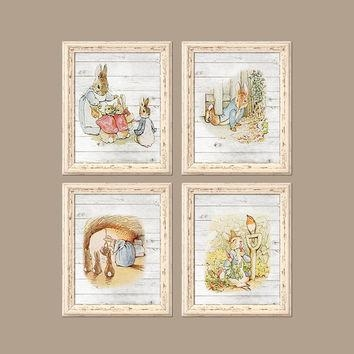 Peter Rabbit Baby Boy Nursery Wall Art From Trm Design | Wall Art Within Peter Rabbit Nursery Wall Art (View 4 of 20)