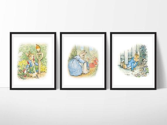 Peter Rabbit Nursery Art Beatrix Potter Nursery Decor Peter Throughout Peter Rabbit Nursery Wall Art (View 16 of 20)