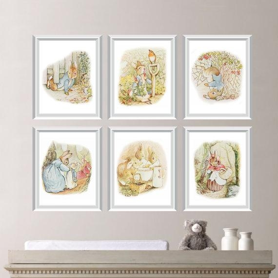 Peter Rabbit Nursery Decor. Baby Nursery Print Art (View 17 of 20)