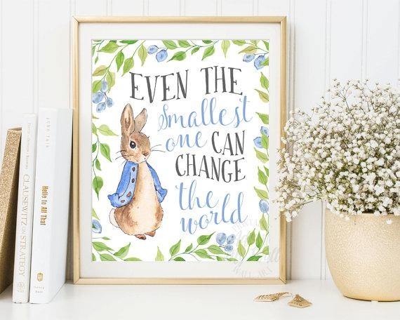 Peter Rabbit Nursery Prints Baby Shower Beatrix Potter Pertaining To Peter Rabbit Nursery Wall Art (View 7 of 20)