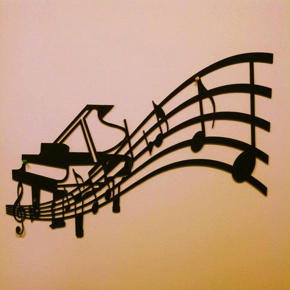 Piano And Sheet Music Metal Wall Art In Sheet Metal Wall Art (Photo 4 of 20)
