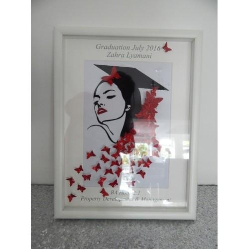 Picture, Personalised, 3D Framed Wall Art, 3D Butterflies For 3D Butterfly Framed Wall Art (Image 13 of 20)