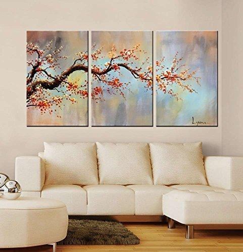 Piece Floral Orange Awesome Projects 3 Piece Wall Art – Home Decor Pertaining To 3 Piece Floral Wall Art (View 17 of 20)