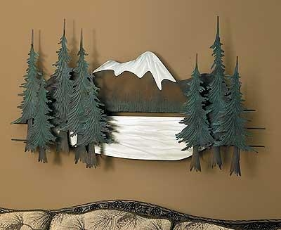 Pine Tree Metal Wall Art | Wild Wings Throughout Metal Pine Tree Wall Art (View 16 of 20)