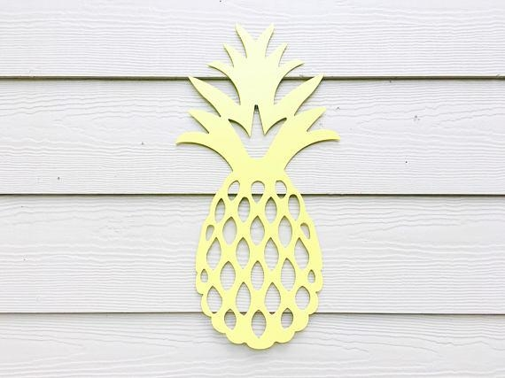 Pineapple Wall Art Metal Pineapple Pineapple Home Decor In Pineapple Metal Wall Art (View 10 of 20)