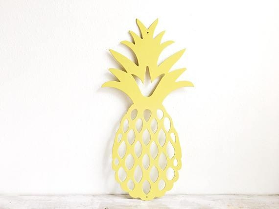 Pineapple Wall Art Metal Pineapple Pineapple Home Decor Intended For Pineapple Metal Wall Art (View 19 of 20)
