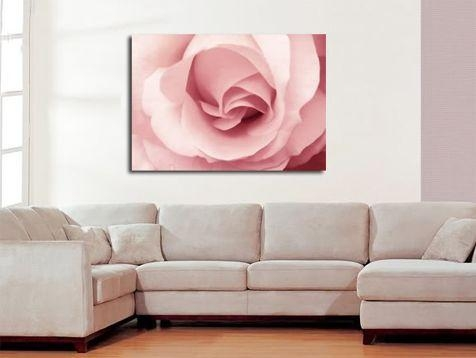 Pink Rose Canvas Wall Art Print 30X20 A1 76X52Cm Regarding Rose Canvas Wall Art (Image 11 of 20)