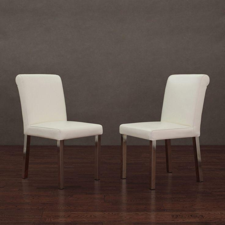 Pinterest'teki 25'den Fazla En Iyi White Leather Dining Chairs In Most Recently Released White Leather Dining Room Chairs (View 20 of 20)