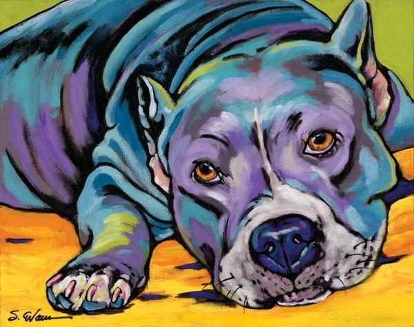 Pitbull Dog Wall Art – Rosenberryrooms Inside Pitbull Wall Art (Image 13 of 20)