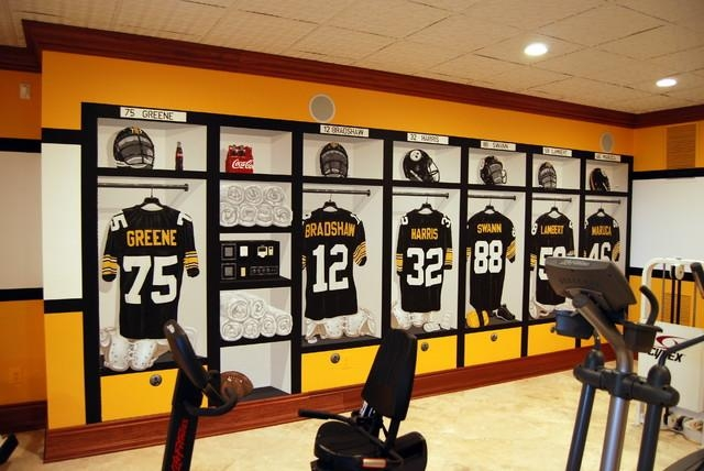 Pittsburgh Steelers 1970's Locker Room Muraltom Taylor Of Wow With Wall Art For Home Gym (Image 18 of 20)