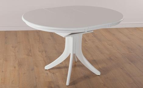 Plain Design White Extendable Dining Table Cool And Opulent Intended For 2017 White Gloss Round Extending Dining Tables (Image 6 of 20)