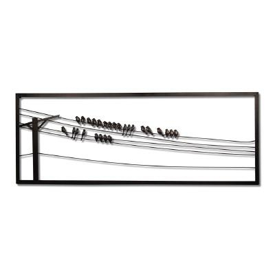 Plastec Birds On Wire Wall Art & Reviews | Wayfair With Regard To Birds On A Wire Wall Art (View 6 of 20)