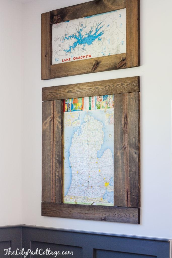 Playroom Changes – Map Wall Art – The Lilypad Cottage With Regard To Vintage Map Wall Art (View 20 of 20)