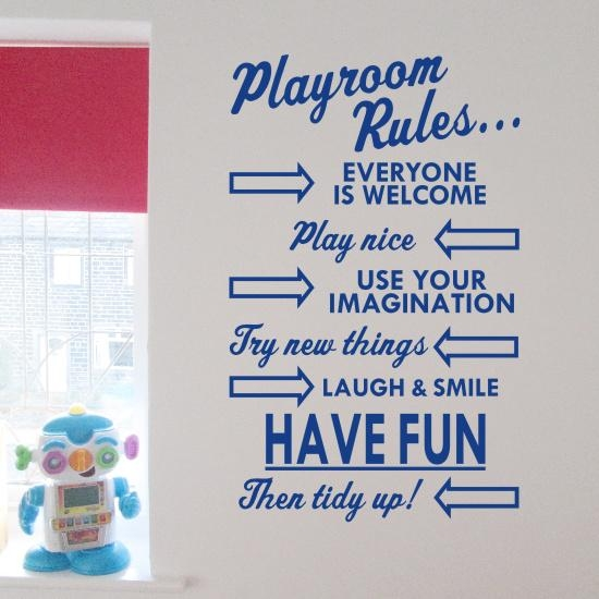 Playroom Rules Wall Art Sticker – H591K Throughout Playroom Rules Wall Art (Image 15 of 20)
