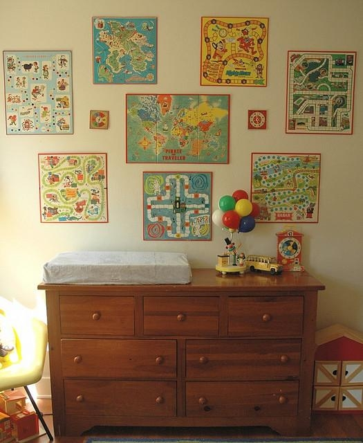 Please Note: Bright Idea: Recycled Games Regarding Board Game Wall Art (View 17 of 20)
